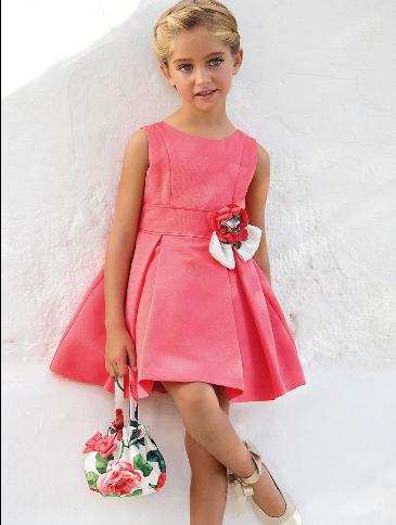 Vestido 22406, color 0056 Coral- Talla: 1, 2, 3, 4, 5, 6, 8, 10 Colección Amaya