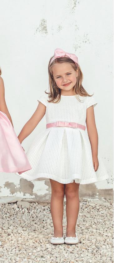 Vestido 22428, color 1202 Crudo rosa -Talla: 1, 2, 3, 4, 5, 6, 8, 10 Colección Amaya