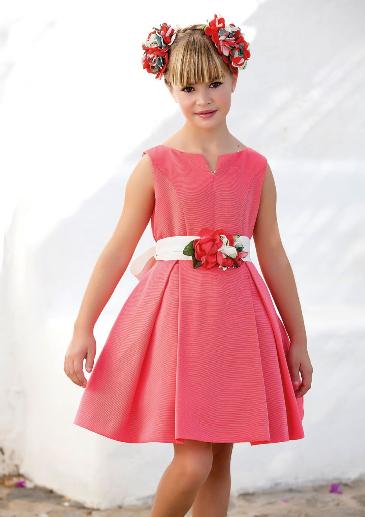 Vestido 22712, color 0056 Coral- Talla: 6, 8, 10, 12, 14, 16, 18 Colección Amaya