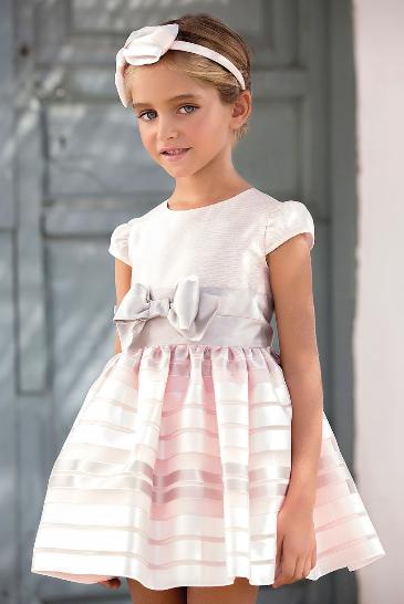 Vestido 22425, color 1202 Crudo rosa agua-color 0096 Verde agua- Talla: 4, 6, 8, 10, 12, 14, 16, 18 Colección Amaya