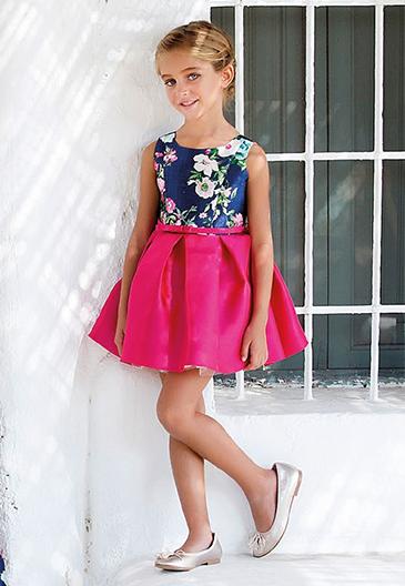 Vestido 22444, color 0007 Fucsia- Talla: 1, 2, 3, 4, 5, 6, 8, 10 Colección Amaya