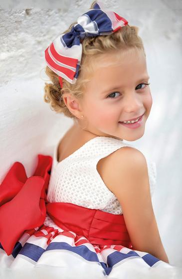 Vestido 22450, color 0009 Rojo- Talla: 1, 2, 3, 4, 5, 6, 8, 10 Colección Amaya